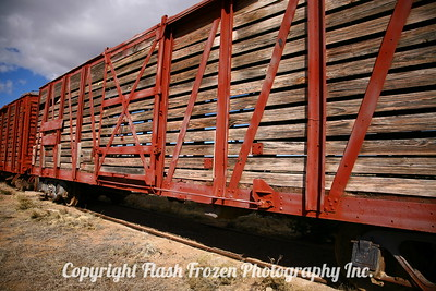 Boxcars at the Eaves Movie Ranch Santa Fe, New Mexico 2007