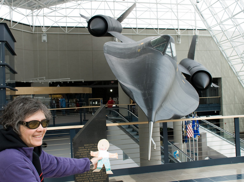The SR-71 Blackbird spy plane flys high and fast