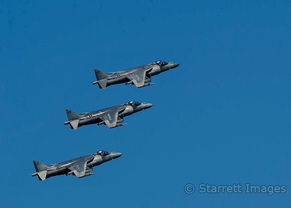 "3 Harrier ""jump jets"""
