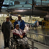 Veterans tour the National Air & Space Museum's Udvar-Hazy Center