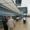 Arriving at the Udvar-Hazy Center at Dulles International Airport.