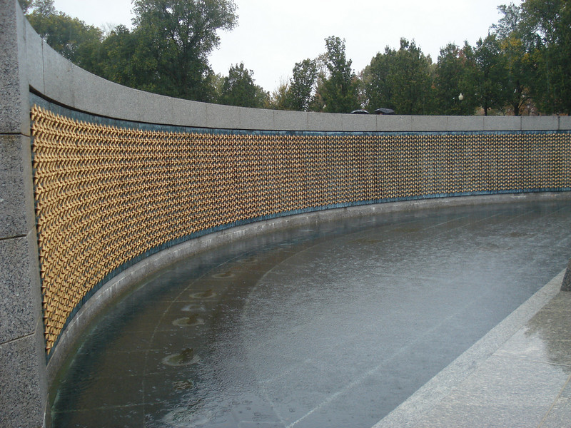 The Freedom Wall's 4,000 gold stars commemorate the more than 400,000 Americans who gave their lives in the war.