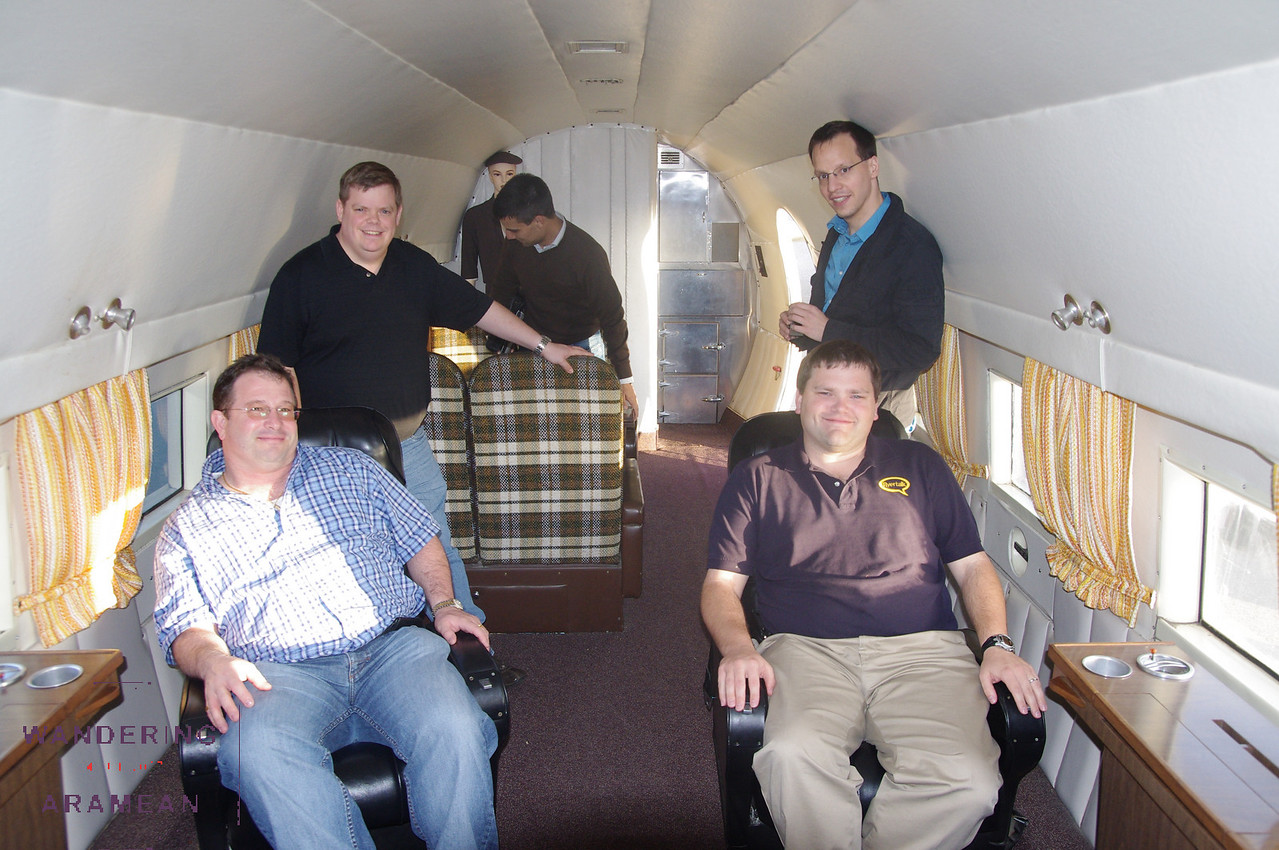 The cabin had be reconfigured for VIP service.