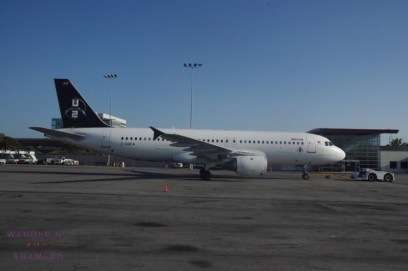 The U2 tour plane.