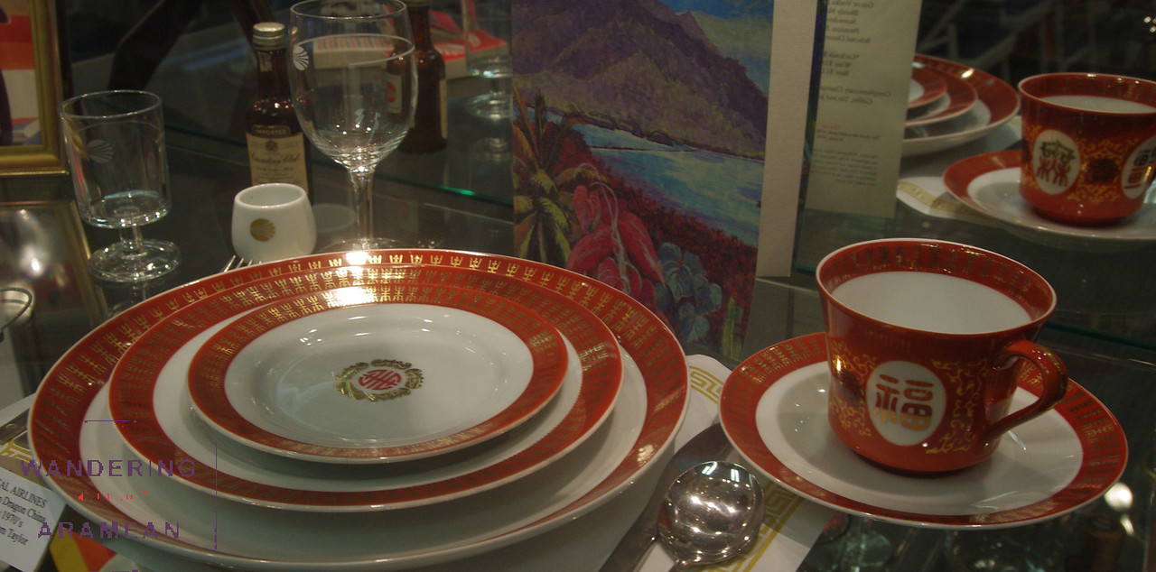 A Continental place setting from the 70s.