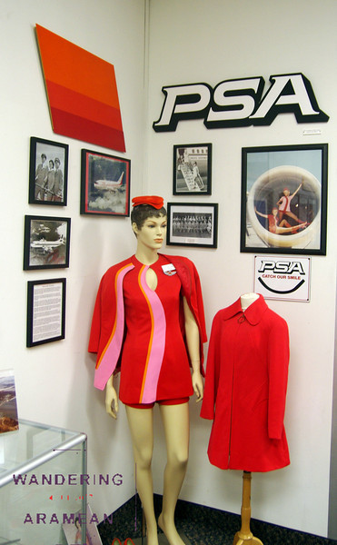 Some old uniforms from PSA, Pacific Southwest Airlines.