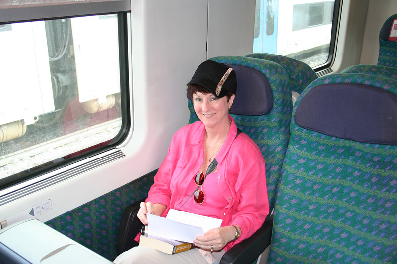 On the way to Siena in the Eurostar train