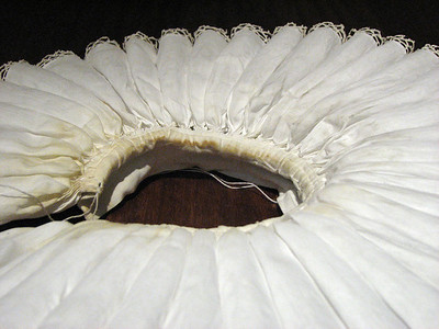 Ruffs made by Janet Arnold and Jenny Tiramani.  Look at the detail.  They are all cartridge pleated and then starched.