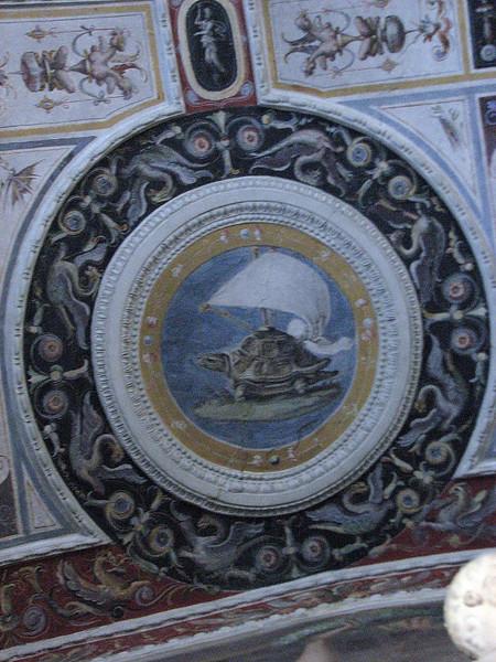 Palazzo Pitti.  The Sailing Turtle was Cosimo de Medici's heraldic animal.