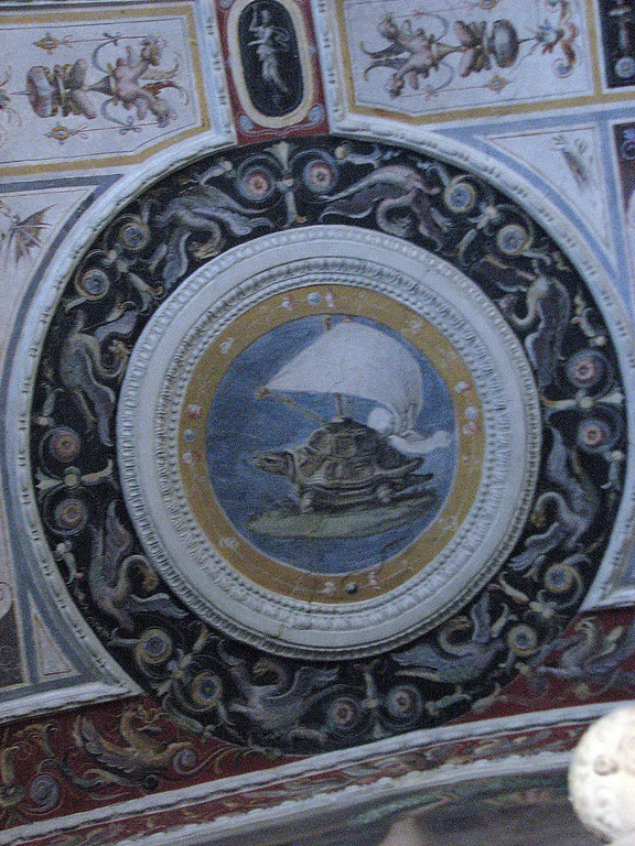 Palazzo Pitti.  The Sailing Turtle was Cosimo de Medici's heraldic animal.