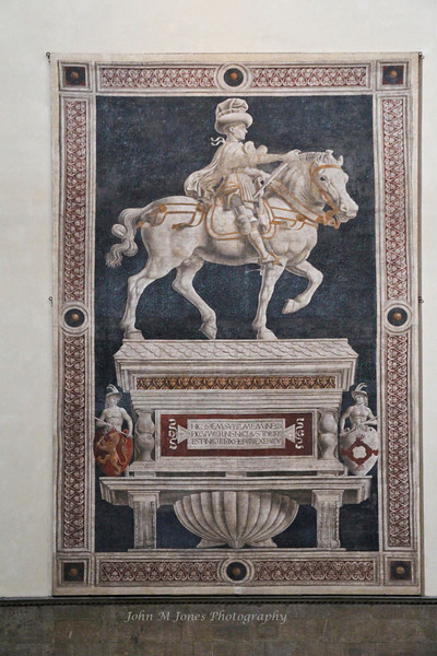 Trompe l'oeil of Niccolo da Tolentino, Basilica Santa Maria del Fiore or Duomo, Florence, Firenze, Italy