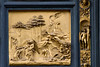 Abraham and the sacrifice of Isaac. Panel from the baptistry doors by Lorenzo Ghiberti, Santa Maria del Fiore, Florence, Firenze, Italy