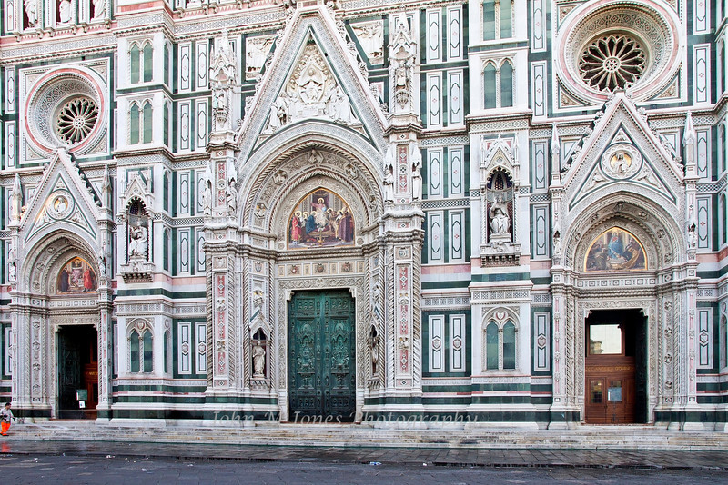 Washing the steps of the Duomo in early morning, Florence, Firenze, Italy