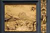 Drunkenness of Noah. Panel from the baptistry doors by Lorenzo Ghiberti, Santa Maria del Fiore, Florence, Firenze, Italy