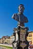 Statue of Benvenuto Cellini on the Ponte Vecchio, Florence, Firenze, Italy