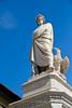 Statue of Dante, Basilica di Santa Croce, Florence, Firenze, Italy