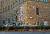Ammannati's Neptune Fountain in Piazza della Signoria, Florence, Firenze, Italy