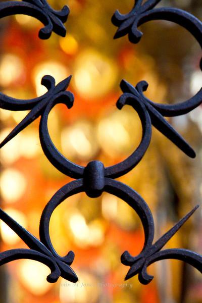 Ironwork in the Santa Trinita Church, Piazza Santa Trinita, Florence, Firenze, Italy