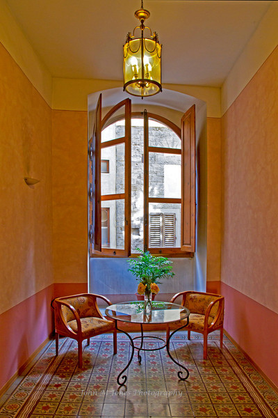 Cozy nook at Torre Guelfa Hotel, Florence, Firenze, Italy