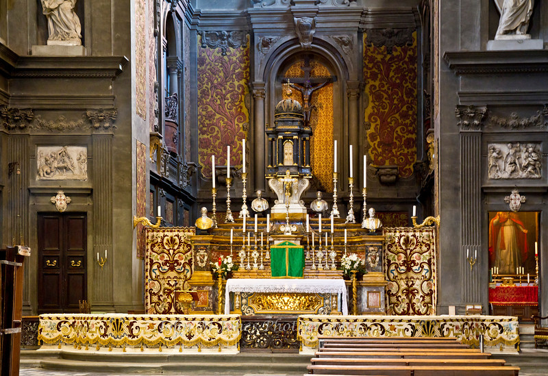 Altar of Basilica Santi Michele e Gaetano, Florence, Firenze, Italy