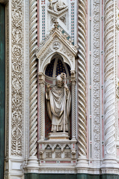 Façade details, Santa Maria del Fiore or the Duomo, Florence, Firenze, Italy