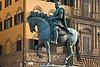 Equestrian statue of Grand Duke Cosimo I by Giambologna, Piazza della Signoria, Florence, Firenze, Italy