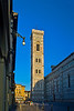 Campanile illuminated by the early morning sun, Florence, Firenze, Italy