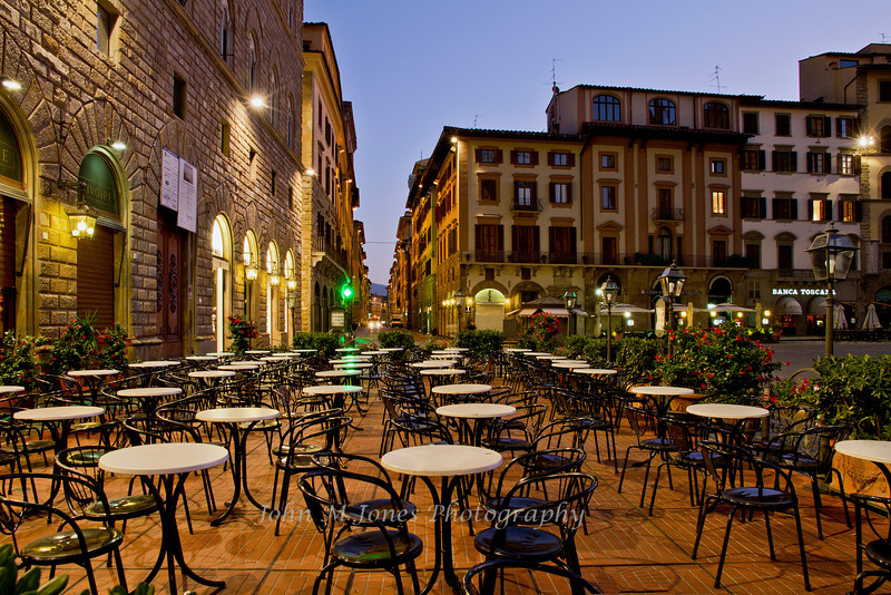 Early morning at the Piazza della Signoria, Florence, Firenze, Italy