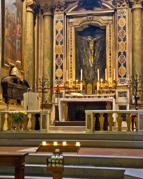 Bascilica di Santa Trinita Altar, Florence, Firenze, Italy
