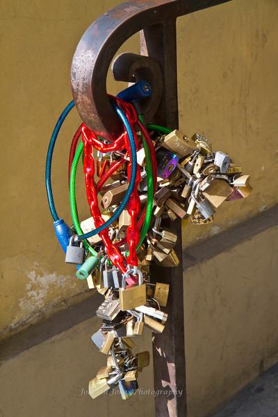 Locks, Ponte Vecchio, Florence, Firenze, Italy