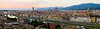 Panorama view of Florence after sunset from Piazza Michelangelo, Firenze, Italy