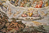 A section of the frescoes inside the dome of Basilica Santa Maria del Fiore, Florence, Firenze, Italy