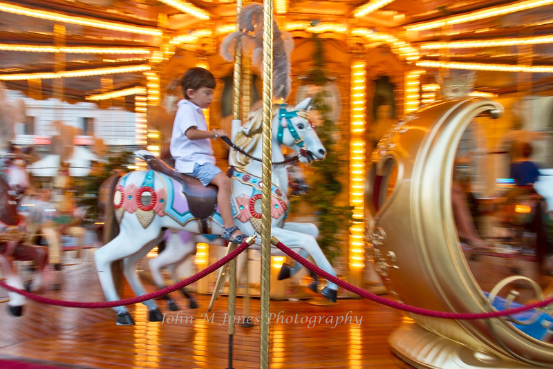 Merry-go-round, or carousel in the Piazza della Repubblica, Florence, Firenze, Italy