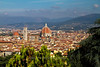 View of Florence and the Duomo from San Miniato al Monte Church, Firenze, Italy