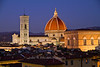 View of the Duomo at night from Hotel Torre Guelfa, Florence, Firenze, Italy