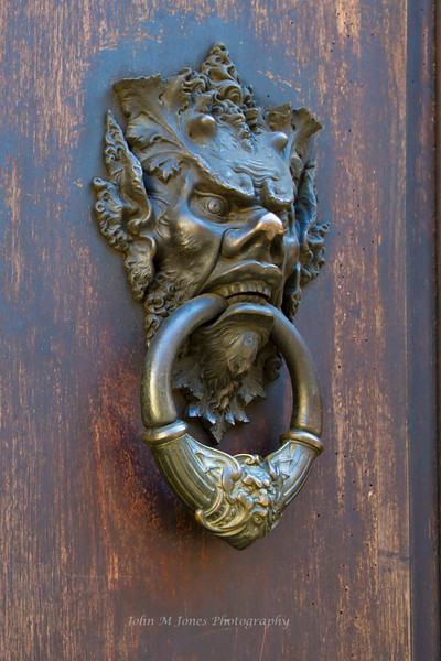 Doorknocker in Florence, Firenze, Italy