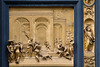 Esau and David. Panel from the baptistry doors by Lorenzo Ghiberti, Santa Maria del Fiore, Florence, Firenze, Italy