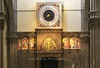 Huge Duomo clock was decorated by Paolo Uccello, Basilica Santa Maria del Fiore, Florence, Firenze, Italy