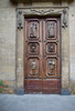 Door of Santa Trinita Church, Piazza Santa Trinita, Florence, Firenze, Italy