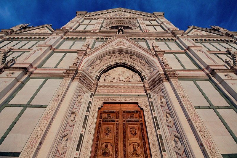 Basilica di Santa Croce, the largest Franciscan church in the world, was finished in 1385 after 90 years of construction.