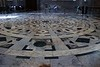 Massive marble inlaid floor of the Duomo in Florence.