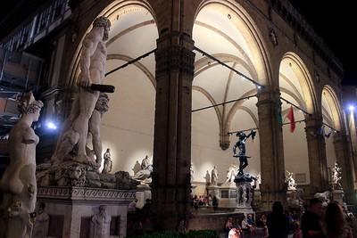 More statues in the Piazza della Signoria, Florence.