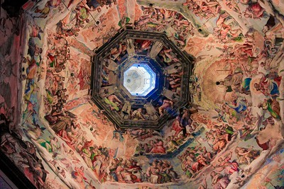 Ceiling frescoes in the Florence Cathedral.