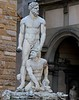 Hercules stands over Cacus at Piazza della Signoria, Florence