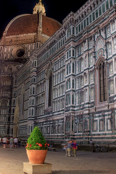 North wall of the Duomo in Florence.
