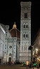 The Florence Cathedral is the center of social activity in Florence. Crowds gather around it until deep into the night.