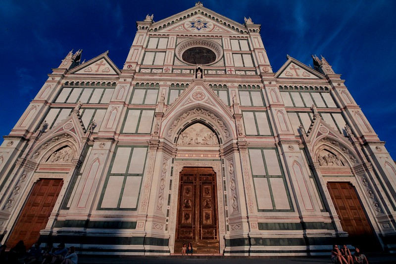 Basilica di Santa Croce is also called the Temple of Italian Glories. Michaelangelo and Galileo are buried here, along with numerous other famous citizens of Italy.