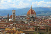 The Duomo in Florence is one of the largest in Europe and towers over the city. It was started in 1296. The brick dome is the largest ever constructed.