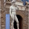 Primary copy of MIchelangelo's David in the Piazza Vecchio.