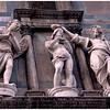Sansovino's statues above the Gates of Paradise -- the Battistero di San Giovanni in Florence
